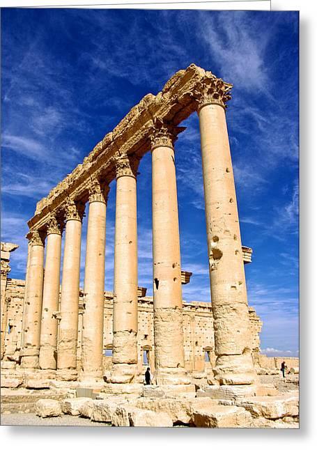 Baal Greeting Cards - Palmyra Temple of Baal Greeting Card by Linda Groom