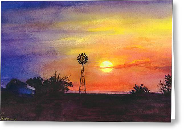 Skys Greeting Cards - Palo Duro Sunset Greeting Card by Don Dane