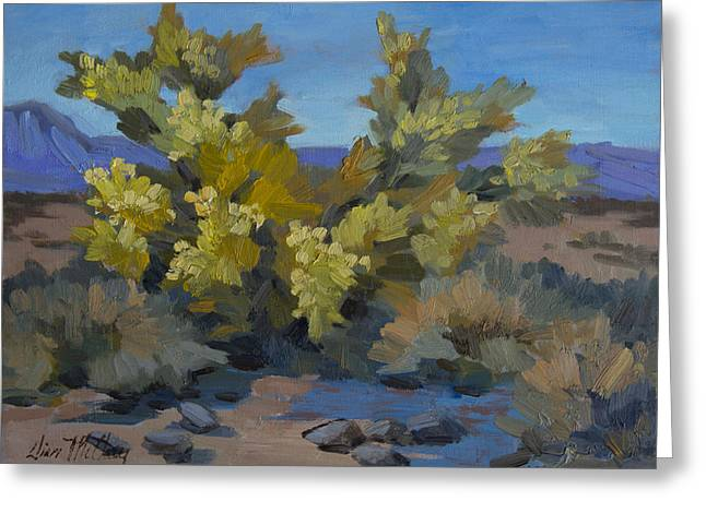 Palos Verdes Cove Greeting Cards - Palo Verde in La Quinta Cove Greeting Card by Diane McClary