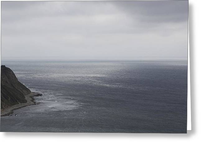 Palos Verdes Cove Greeting Cards - Palos Verdes In Rainy Day Greeting Card by Viktor Savchenko