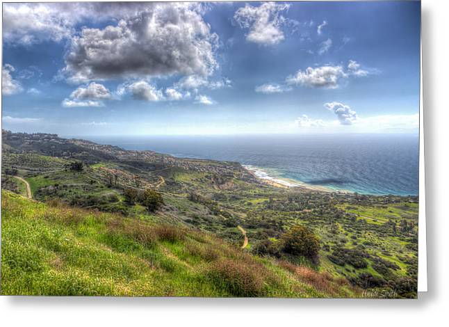 Outlook Greeting Cards - Palos Verdes Peninsula HDR Greeting Card by Heidi Smith