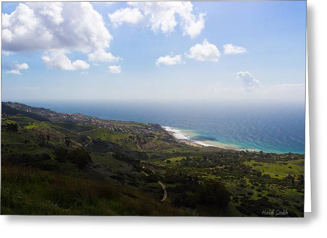 Outlook Greeting Cards - Palos Verdes Peninsula Greeting Card by Heidi Smith