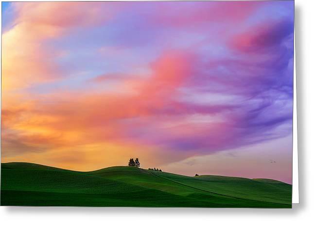 Lewiston Greeting Cards - Palouse Cirrus Rainbow Greeting Card by Ryan Manuel