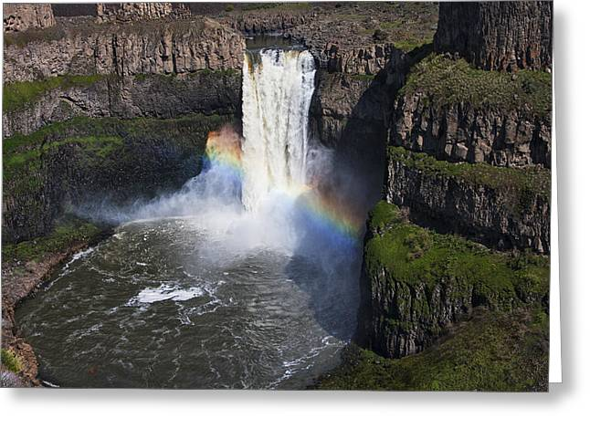 Washington Beauty Greeting Cards - Palouse Falls Greeting Card by Mark Kiver