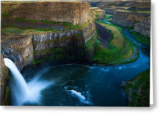 Washington Beauty Greeting Cards - Palouse Falls Pool Greeting Card by Inge Johnsson