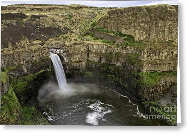 Tim Moore Greeting Cards - Palouse Falls Greeting Card by Tim Moore