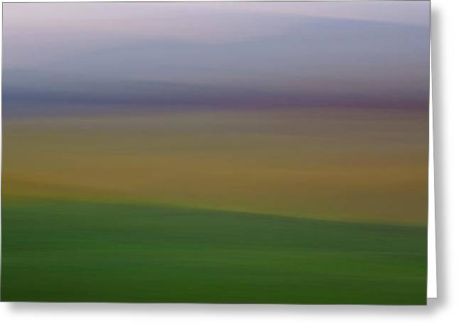 Contour Plowing Greeting Cards - Palouse Impression Greeting Card by Latah Trail Foundation