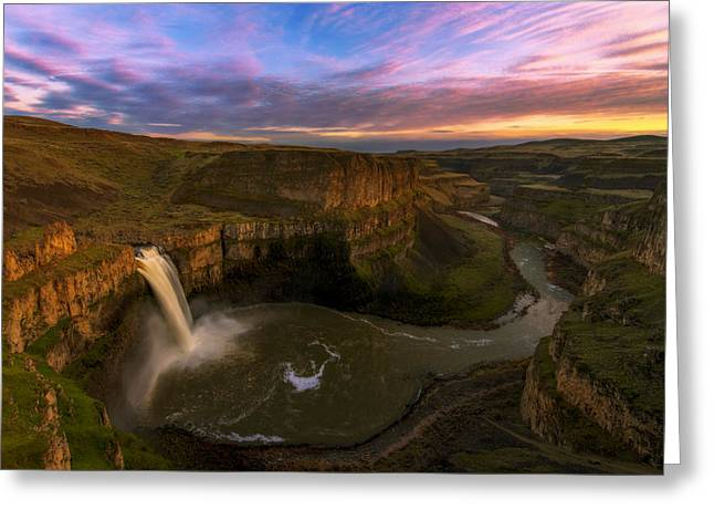 Pnw Greeting Cards - Palouse Sunset Greeting Card by Dustin  LeFevre