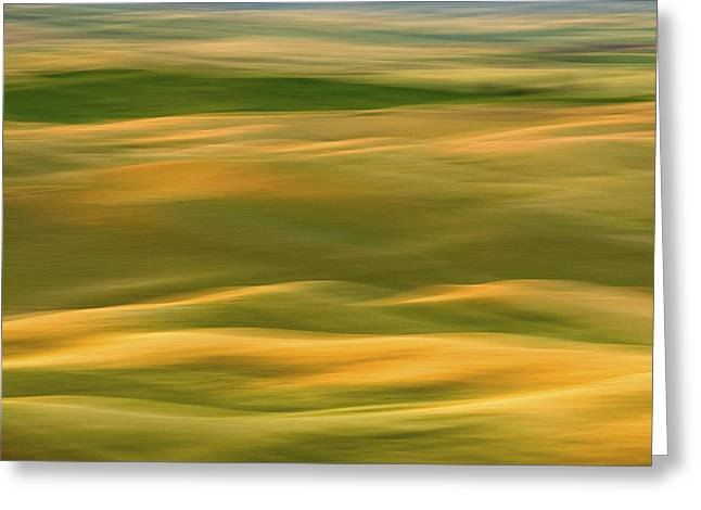 Usa Photographs Greeting Cards - Palouse Symmetry 2 Greeting Card by Latah Trail Foundation