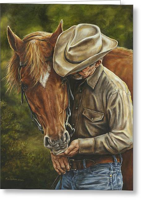Cattle Ranch Greeting Cards - Pals Greeting Card by Kim Lockman
