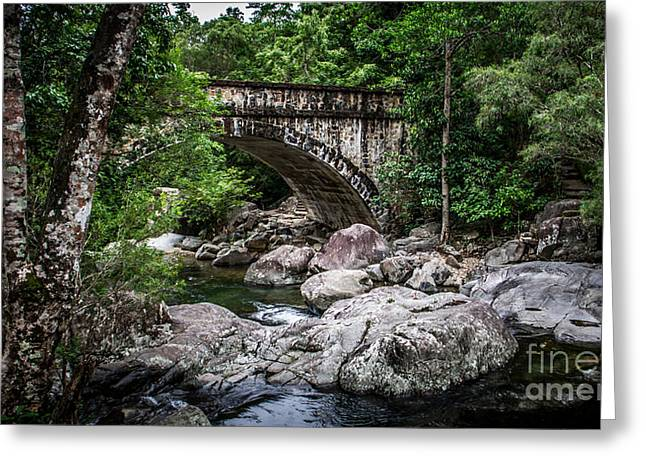 Waterfall Photography Greeting Cards - Paluma Arch Bridge Greeting Card by Perry Webster