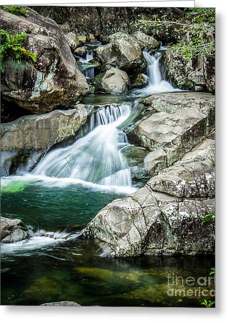 Waterfall Photography Greeting Cards - Paluma Falls Greeting Card by Perry Webster