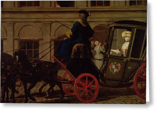 Coach Greeting Cards - Pamela Leaves Mr Bs House Greeting Card by Joseph Highmore