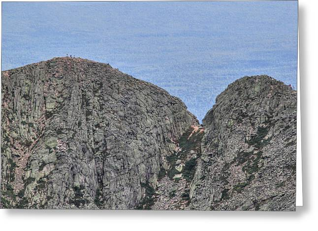 Pamola And Chimney Peaks Greeting Card by Lori Deiter