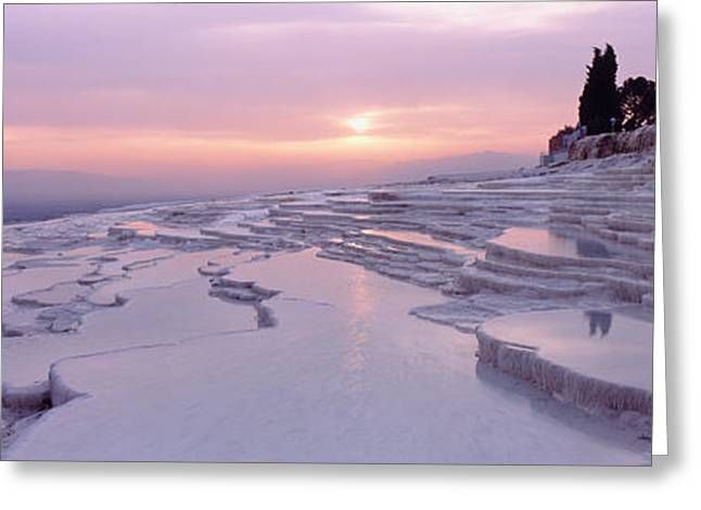 Geothermal Greeting Cards - Pamukkale Turkey Greeting Card by Panoramic Images