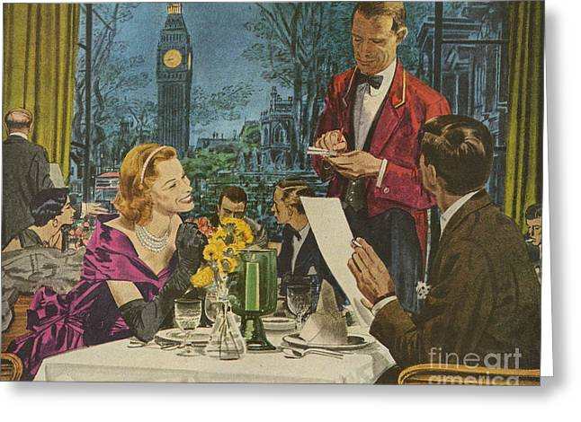 Twentieth Century Greeting Cards - Pan Am, Pan American  1950s Usa London Greeting Card by The Advertising Archives