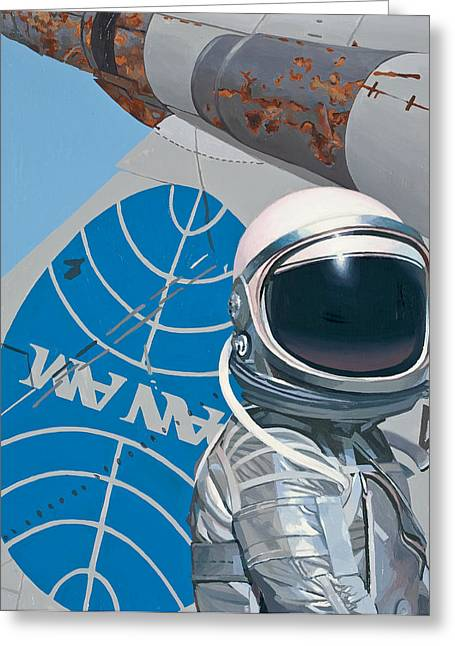 Scifi Greeting Cards - Pan Am Greeting Card by Scott Listfield