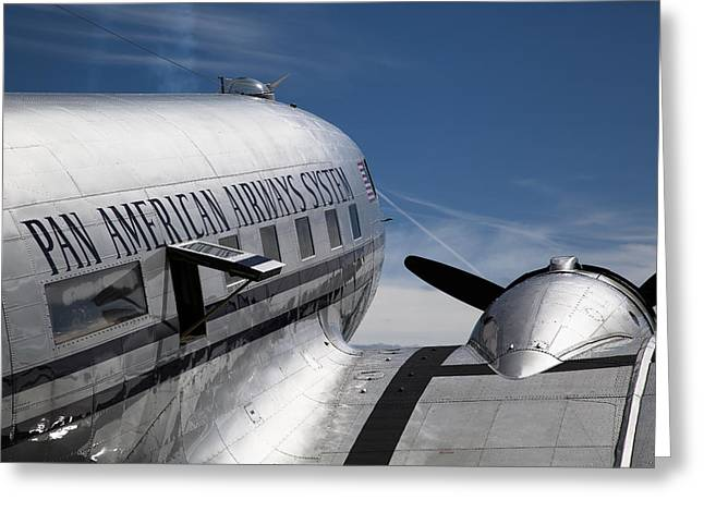 American Airways Greeting Cards - Pan American Airways System Greeting Card by Ashley Roberts