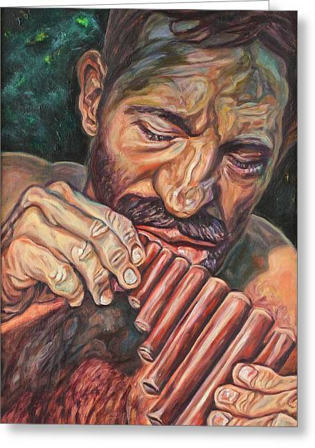 Pan Pipes Greeting Cards - Pan Greeting Card by Greg Hester