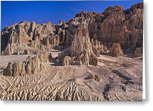Wells Nevada Greeting Cards - Panaca Formations in Cathedral Gorge State Park Nevada Greeting Card by Dave Welling