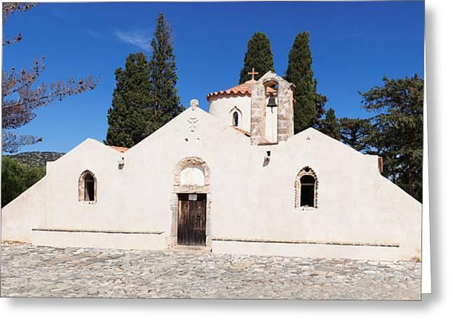 Agios Greeting Cards - Panagia Kera Church In Kritsa, Lasithi Greeting Card by Panoramic Images