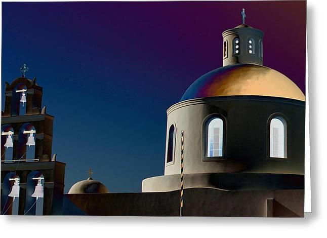 Panagia Greeting Cards - The Church of Panagia of Platsani Greeting Card by Mark J Dunn