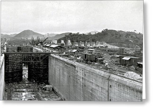 Panama Canal Construction 1910 Greeting Card by Photo Researchers