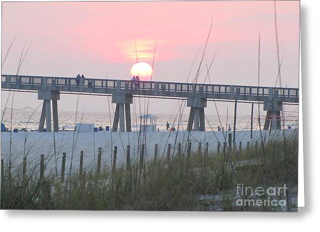 Panama City Beach Greeting Cards - Panama City Beach Sunset 1 Greeting Card by Michelle Powell