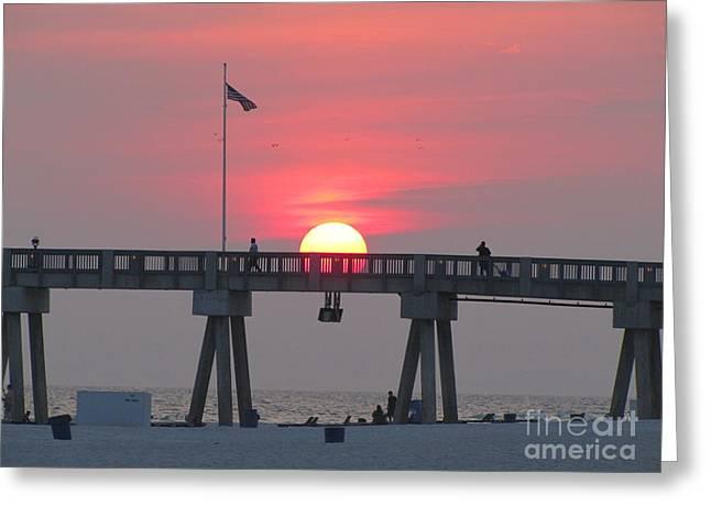 Panama City Beach Greeting Cards - Panama City Beach Sunset 3 Greeting Card by Michelle Powell