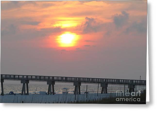 Panama City Beach Greeting Cards - Panama City Beach Sunset 4 Greeting Card by Michelle Powell