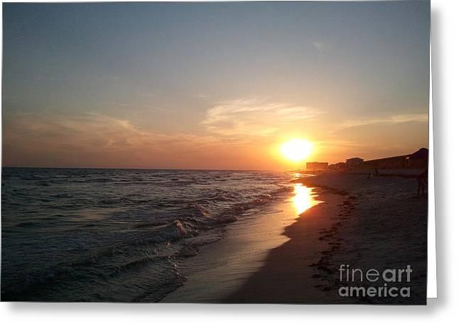 Panama City Beach Greeting Cards - Panama City Beach Sunset Greeting Card by Leara Nicole Morris-Clark