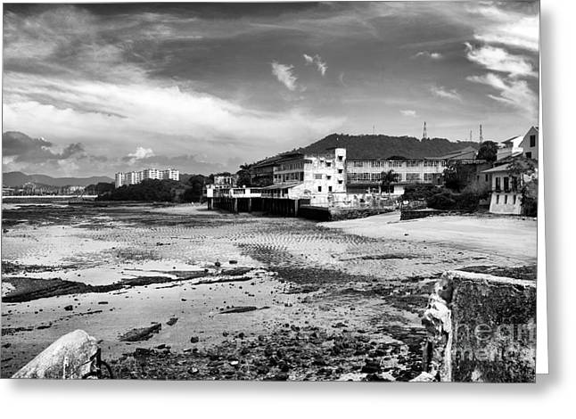 Panama City Greeting Cards - Panama City mono Greeting Card by John Rizzuto