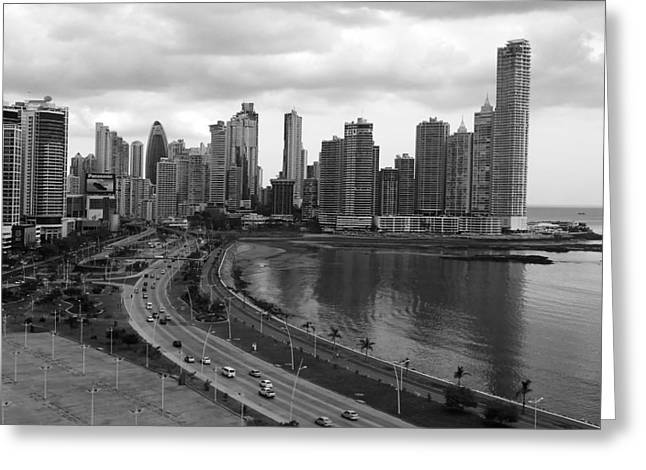 Panama City Greeting Cards - Panama City Skyline Greeting Card by Mountain Dreams