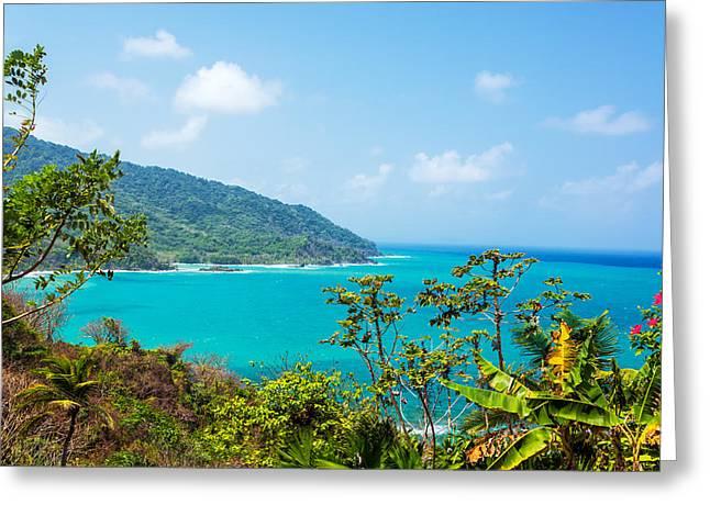 Miel Greeting Cards - Panama Coast View Greeting Card by Jess Kraft