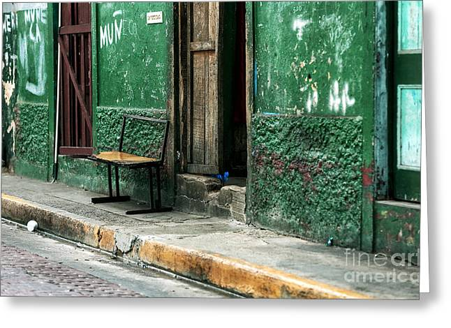Panama City Greeting Cards - Panama Green Greeting Card by John Rizzuto