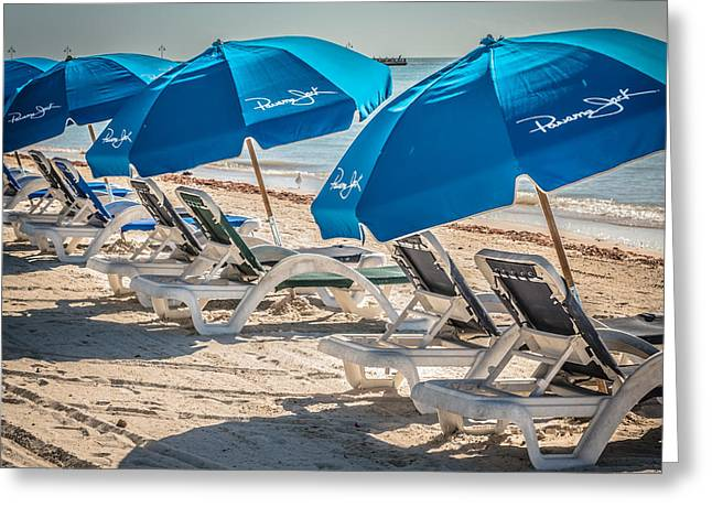 Panama Jack Blues - Higgs Beach - Key West - Square - Hdr Style Greeting Card by Ian Monk