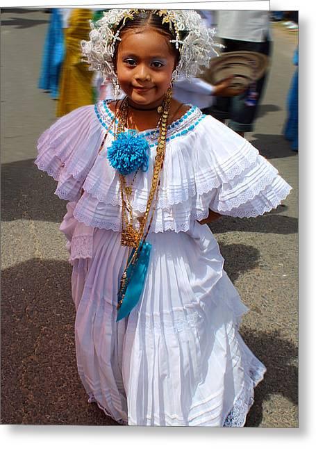 Gold Necklace Greeting Cards - Panama Parade Nina Bonito 3b Greeting Card by Rich Sumwalt