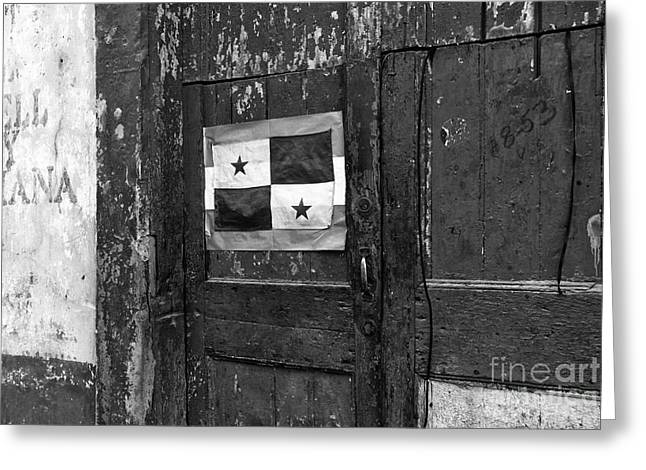Panama City Greeting Cards - Panama Pride mono Greeting Card by John Rizzuto