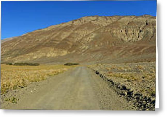 Panamint Valley Greeting Cards - Panamint Mountains panorama November 16 2014 Greeting Card by Brian Lockett