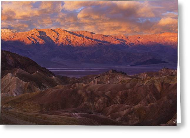 Panamint Valley Greeting Cards - Panamint Sunrise Greeting Card by Peter Coskun