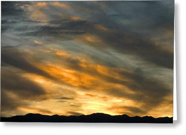 Panamint Sunset Greeting Card by Joe Schofield