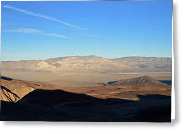 Panamint Valley Greeting Cards - Panamint Valley from Father Crowley Viewpoint Panorama November 16 2014 Greeting Card by Brian Lockett
