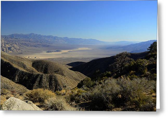 Panamint Valley Greeting Cards - Panamint Valley November 21 2014 Greeting Card by Brian Lockett