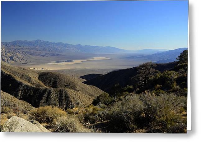 Panamint Valley November 21 2014 Greeting Card by Brian Lockett