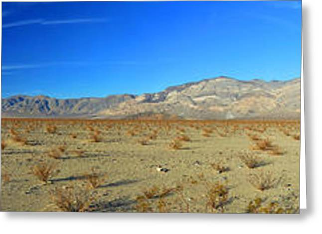 Mountain Valley Greeting Cards - Panamint Valley State Route 190 Panorama November 16 2014 Greeting Card by Brian Lockett