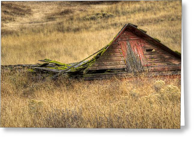 Red Roofed Barn Greeting Cards - Pancake Barn Greeting Card by Jean Noren