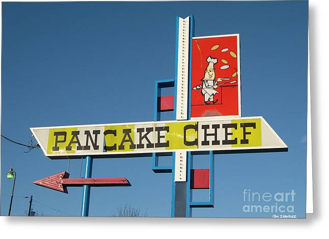Food Digital Greeting Cards - Pancake Chef Greeting Card by Jim Zahniser