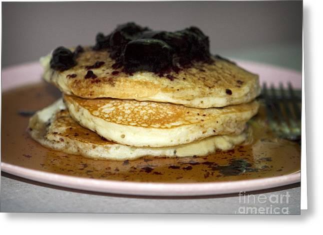 Pancakes Greeting Cards - Pancake Stack Greeting Card by John Stephens