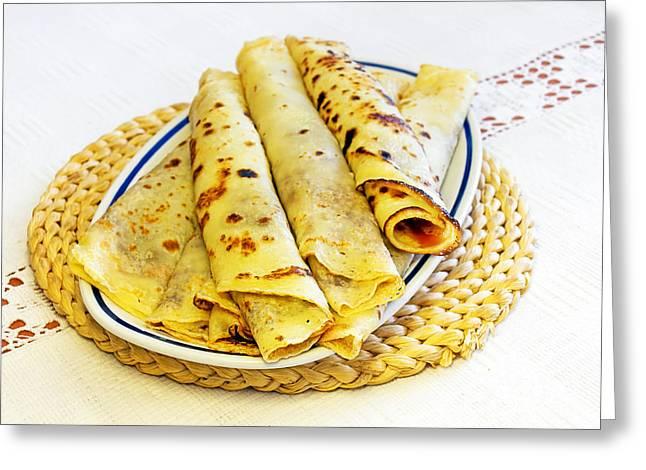 Pancakes Greeting Card by Sinisa Botas