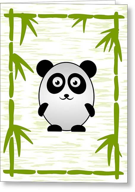 Cute Mixed Media Greeting Cards - Panda - Animals - Art for Kids Greeting Card by Anastasiya Malakhova